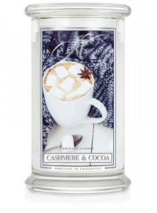 Kringle Candle CASHMERE & COCOA świeca duża