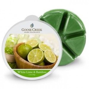 Goose Creek Candle White Lime Bamboo wosk zapachowy  Kostka