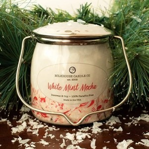 Milkhouse Candle White Mint Mocha świeca Wrapped Butter