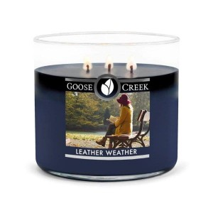 Goose Creek Candle Leather Weather Świeca Tumbler Trzyknotowy