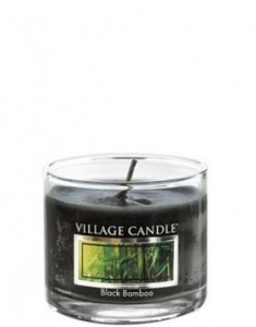 Village Candle Black Bamboo świeca Mini Glass