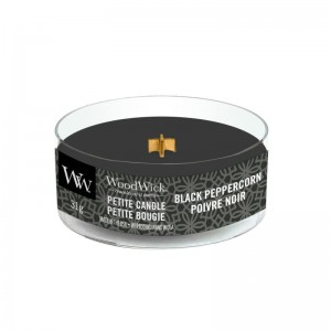 Woodwick Black Peppercorn świeca petite