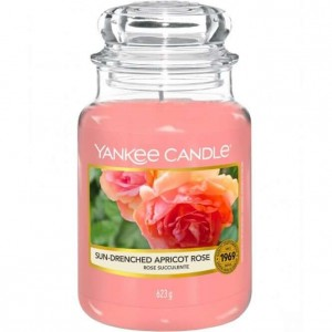 Yankee Candle SUN DRENCHED APRICOT ROSE świeca duża