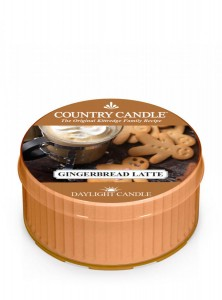 Country Candle Gingerbread Latte świeca zapachowa Daylight