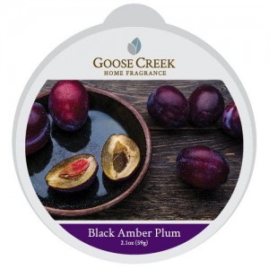 Goose Creek Candle Black Amber Plum Wosk Zapachowy