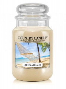 Country Candle Life's a Beach duża świeca