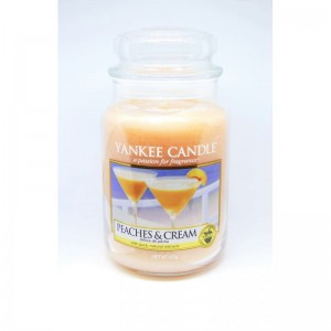 Yankee Candle PEACHES AND CREAM duża świeca USA