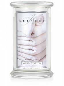 Kringle Candle WARM COTTON duża świeca