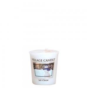Village Candle LET IT SNOW świeca zapachowa votive sampler