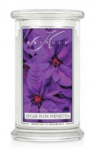 Kringle Candle SUGAR PLUM POINSETTIA duża świeca