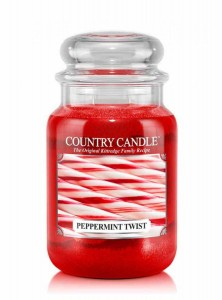 Country Candle PEPPERMINT TWIST duża świeca