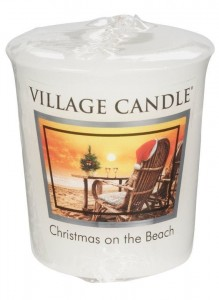 Village Candle CHRISTMAS ON THE BEACH świeca votive