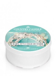 Country Candle BABY ITS COLD OUTSIDE daylight
