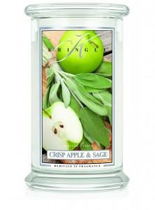 Kringle Candle CRISP APPLE & SAGE  duża świeca