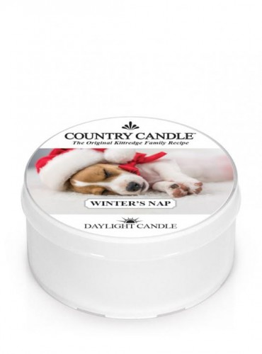 Winter's Nap country Candle daylight