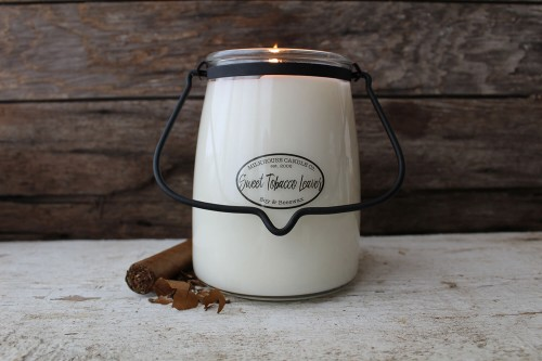 Milkhouse Candle Sweet Tobacco Leaves świeca Butter Jar